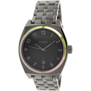 Nixon Women's Monopoly A3251698 Gunmetal Stainless Steel Quartz Watch