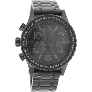 Nixon Women's 38-20 A4041879 Black Stainless Steel Quartz Watch