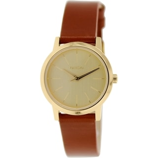 Nixon Women's Kenzi A3981425 Brown Leather Quartz Watch