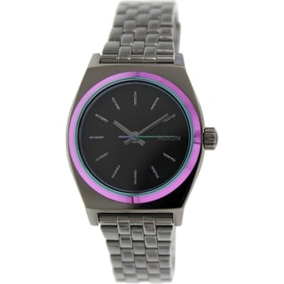 Nixon Women's Time Teller A3991698 Gunmetal Stainless Steel Quartz Watch