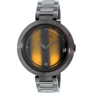 Nixon Women's Optique A2641073 Black Stainless Steel Quartz Watch