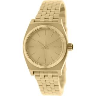 Nixon Women's Time Teller A399502 Gold Stainless Steel Quartz Watch
