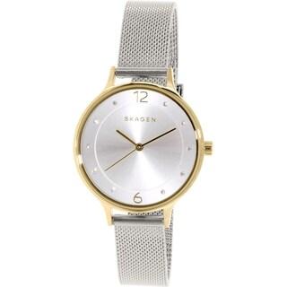 Skagen Women's SKW2340 Anita Diamond Silver Dial Stainless Steel Mesh Bracelet Watch|https://ak1.ostkcdn.com/images/products/10450208/P17543291.jpg?_ostk_perf_=percv&impolicy=medium