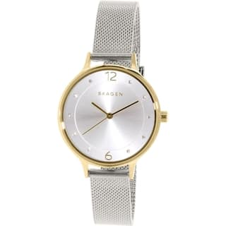 Skagen Women's SKW2340 Anita Diamond Silver Dial Stainless Steel Mesh Bracelet Watch|https://ak1.ostkcdn.com/images/products/10450208/P17543291.jpg?impolicy=medium