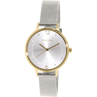 Skagen Women's Anita Diamond Silver Dial Stainless Steel Mesh Bracelet Watch