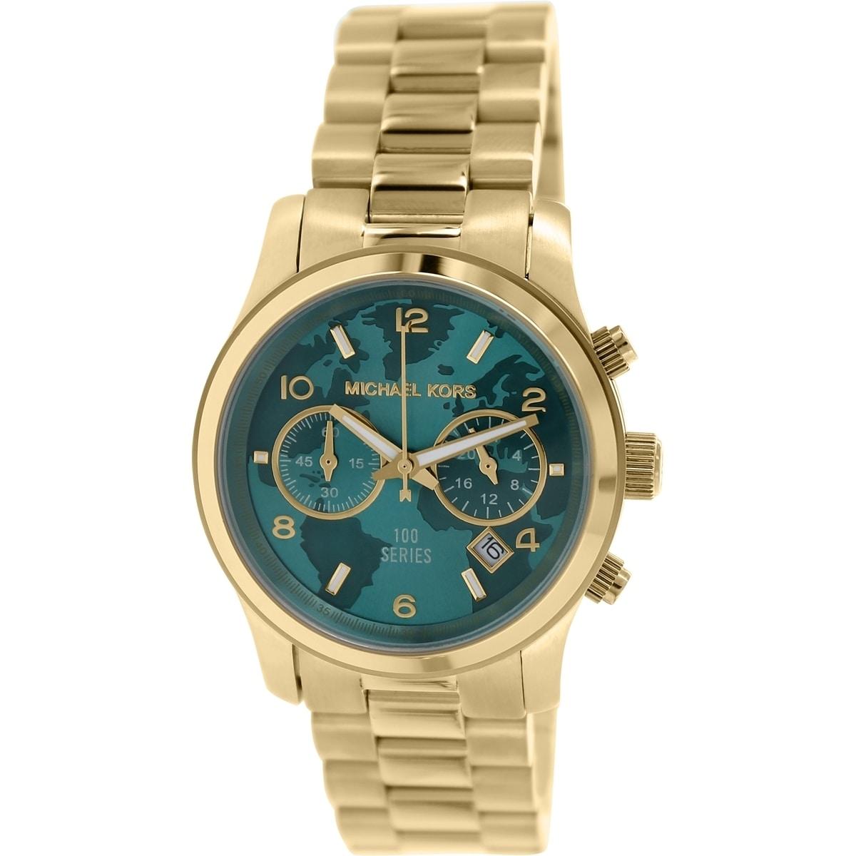 Michael Kors Womens Hunger Stop  Gold Stainless Steel Quartz Watch MK5815