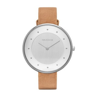 Skagen Women's SKW2326 Brown Leather Leather Quartz Watch