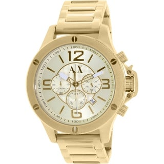 Armani Exchange Men's AX1504 Gold Stainless Steel Quartz Watch