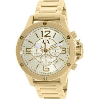 Armani Exchange Men's AX1504 Gold Stainless Steel Quartz Watch