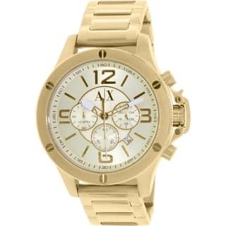 Armani Exchange Men's AX1504 Gold Stainless Steel Quartz Watch|https://ak1.ostkcdn.com/images/products/10450225/P17543296.jpg?impolicy=medium