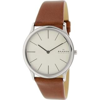 Skagen Men's Theodor SKW6083 Brown Leather Quartz Watch