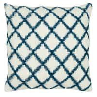 Rizzy Home 18-inch Trellis Pattern Throw Pillow