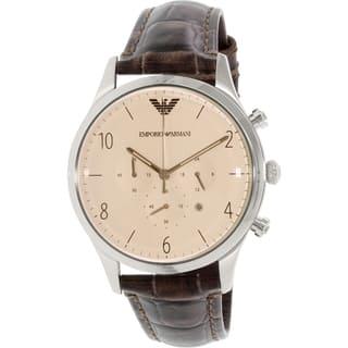 Emporio Armani Men's Beta AR1878 Brown Leather Quartz Watch|https://ak1.ostkcdn.com/images/products/10450241/P17543303.jpg?impolicy=medium