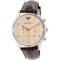 Emporio Armani Men's Beta AR1878 Brown Leather Quartz Watch