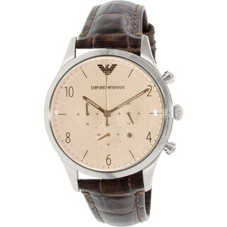 Emporio Armani Men's Beta AR1878 Brown Leather Quartz Watch