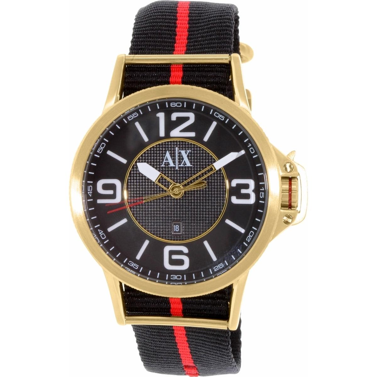 Armani Exchange Men's AX1581 Black Nylon Quartz Watch (AX...