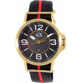 Armani Exchange Men's AX1581 Black Nylon Quartz Watch|https://ak1.ostkcdn.com/images/products/10450250/P17543311.jpg?impolicy=medium