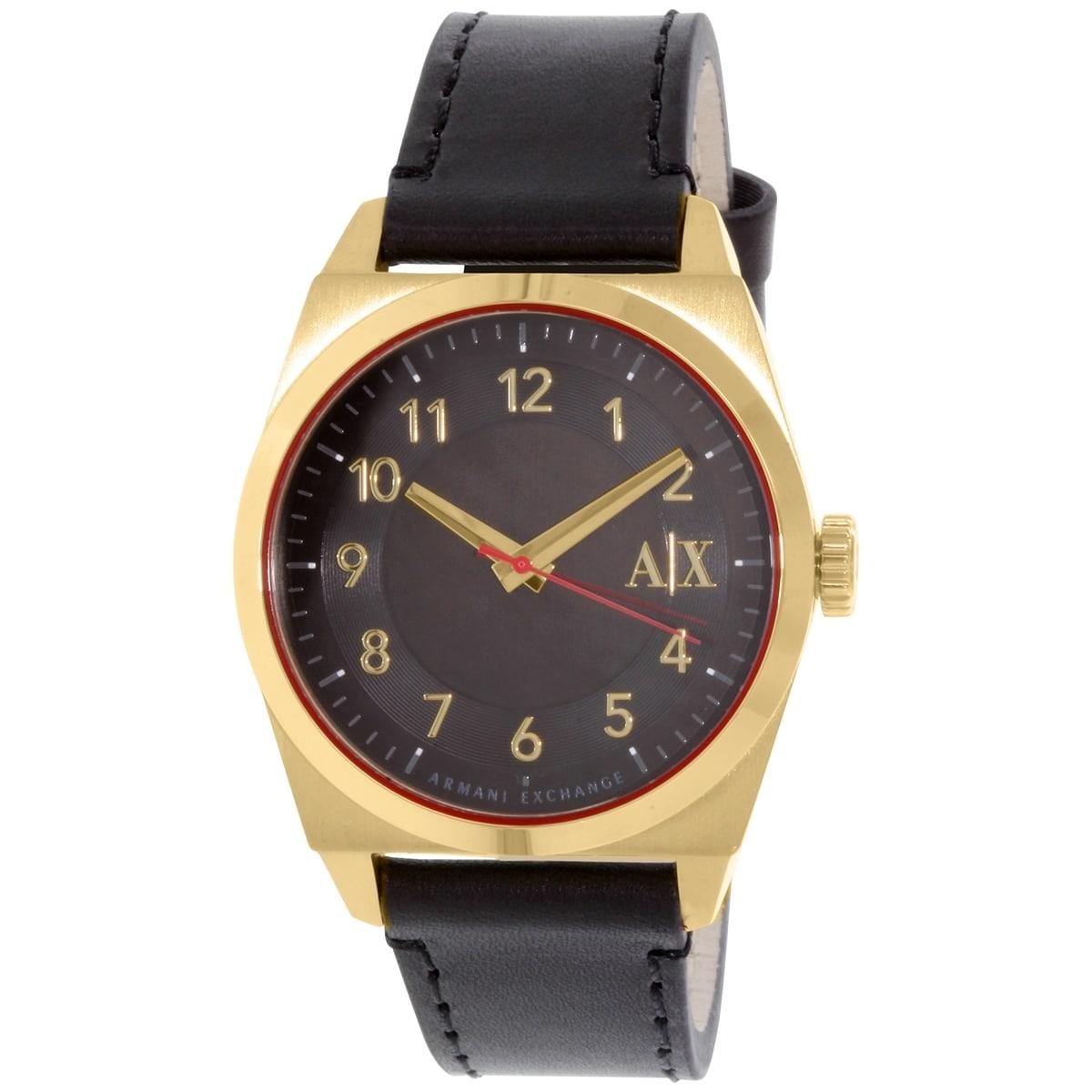 Armani Exchange Men's AX2306 Black Leather Quartz Watch (...