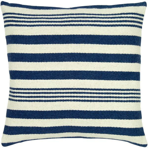 Shop Rizzy Home 24 Inch Nautical Stripe Throw Pillow