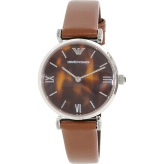 Emporio Armani Women's Classic AR1873 Brown Leather Quartz Watch
