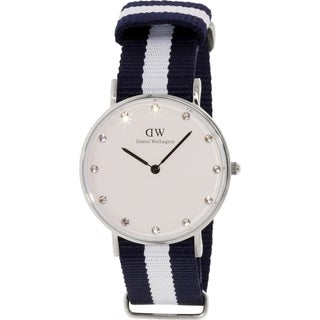 Daniel Wellington Women's Glasgow 0963DW Blue Nylon Quartz Watch