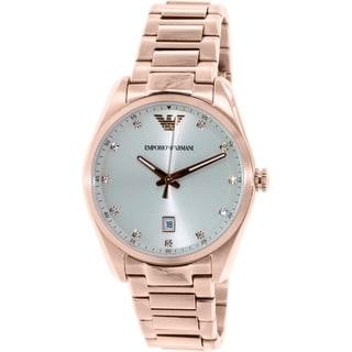 Emporio Armani Women's Tazio AR6065 Rose Gold Stainless Steel Quartz Watch