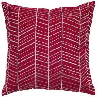 Rizzy Home 18-inch Herringbone Throw Pillow