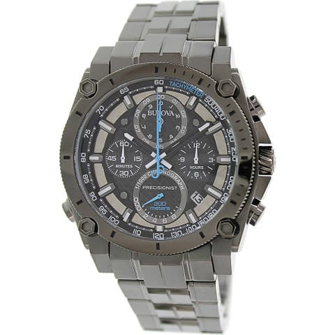 Bulova Men's Precisionist 98B229 Gunmetal Stainless Steel Quartz Watch