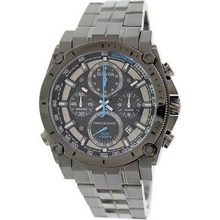 Bulova Men's Precisionist 98B229 Gunmetal Stainless Steel Quartz Watch