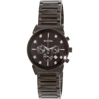 Bulova Men's 98D123 Black Stainless Steel Quartz Watch