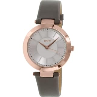 DKNY Women's Stanhope NY2296 Grey Leather Quartz Watch|https://ak1.ostkcdn.com/images/products/10450353/P17543395.jpg?impolicy=medium