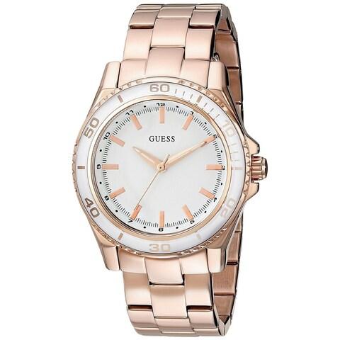 Guess Women's Rose Gold Stainless Steel Quartz Watch