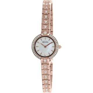 Bulova Women's 98L215 Rose Gold Stainless Steel Quartz Watch