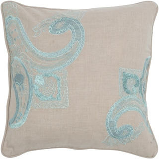 Rizzy Home 18-inch Scroll Design throw Pillow