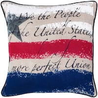 Rizzy Home 18-inch Printed Vintage Pattern Throw Pillow