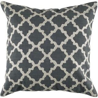 Rizzy Home 18-inch Quatrefoil Throw Pillow