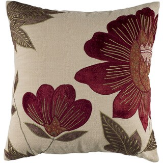 Rizzy Home 18-inch Floral Throw Pillow