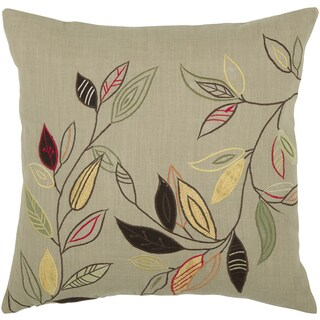 Rizzy Home 18-inch Leaf Throw Pillow