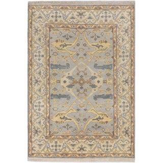 Ecarpetgallery Royal Ushak Grey Wool Open Field Rug (4'1 x 5'11)