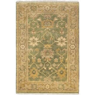 Ecarpetgallery Royal Ushak Dark Aqua Wool Open Field Rug (4'1 x 5'10)