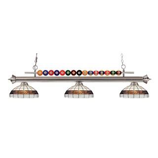 Avery Home Lighting Shark 3-light Island/Billiard Multi Colored Tiffany-style-finished Light