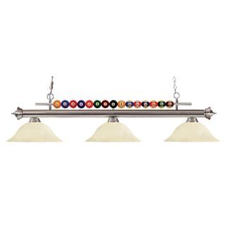 Z-Lite Shark 3-light Island/Billiard Golden Mottle-finished Light