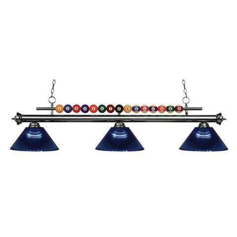 Avery Home Lighting Shark 3-light Island/Billiard Acrylic Dark Blue-finished Light - Blue
