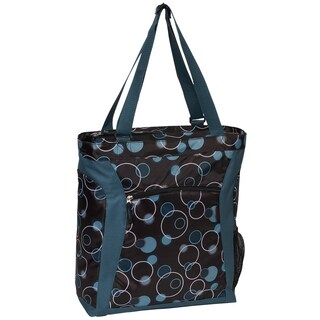 Everest Teal and Brown Bubbles 15-inch Laptop Tote Bag
