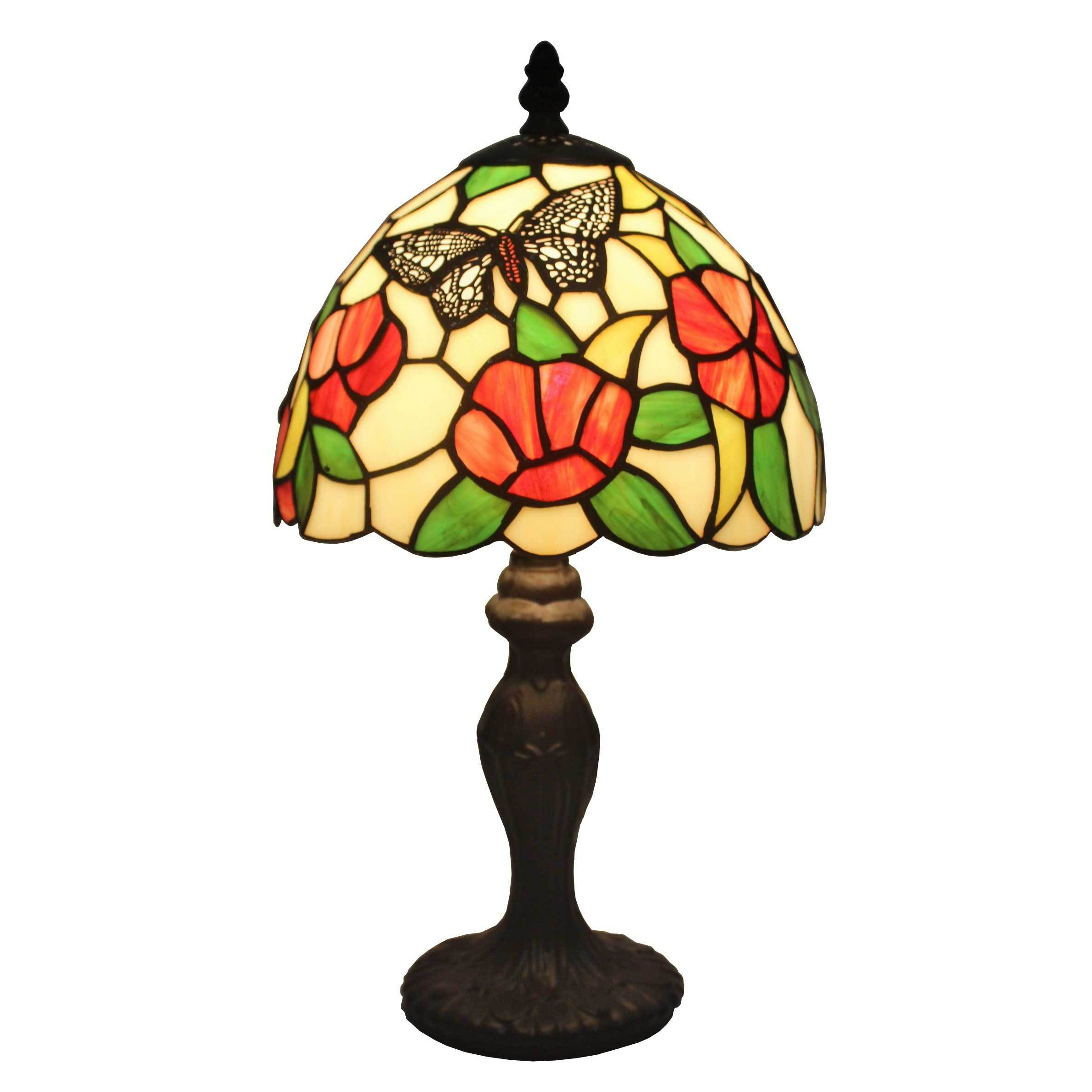 Amora Lighting Tiffany-style Flowers and Butterflies Desi...