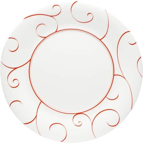 "Panache Rouge Round Platter 12"" (Set of 2)"