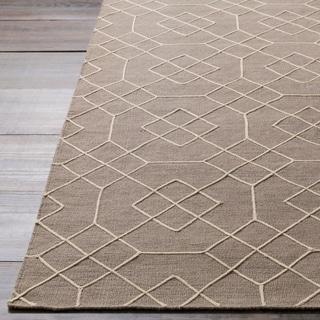 Hand-Stitched Javier Geometric Wool Rug (3'6 x 5'6)