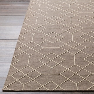 Hand-Stitched Javier Geometric Wool Rug (2' x 3')