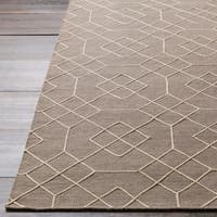 Hand-Stitched Javier Geometric Wool Area Rug - 2' x 3'