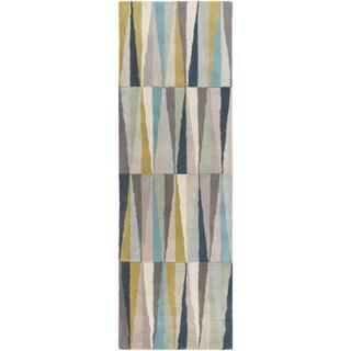 Hand-Tufted Roxanne Geometric Wool Rug (2'6 x 8')